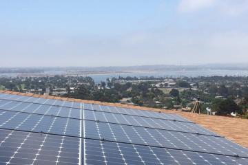 Solar panels install San Pedro