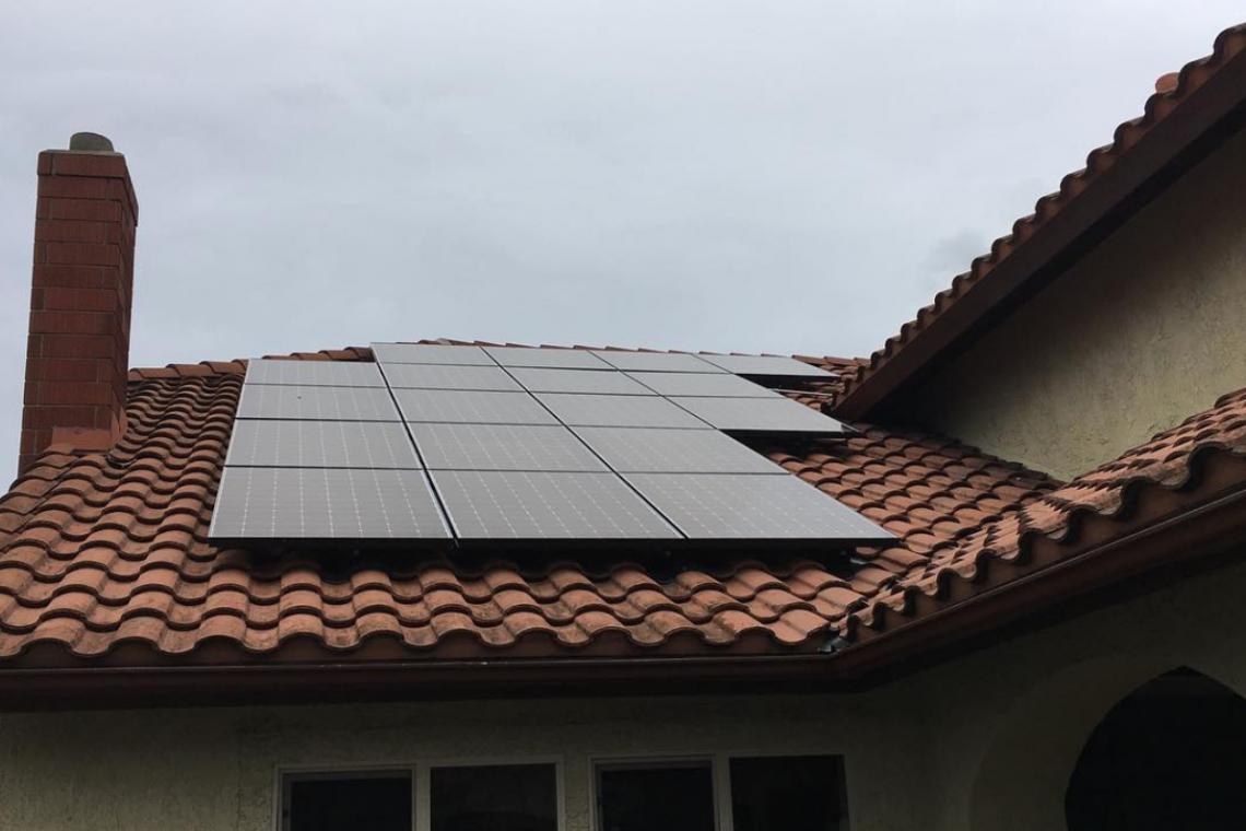 Solar panels install in Corona