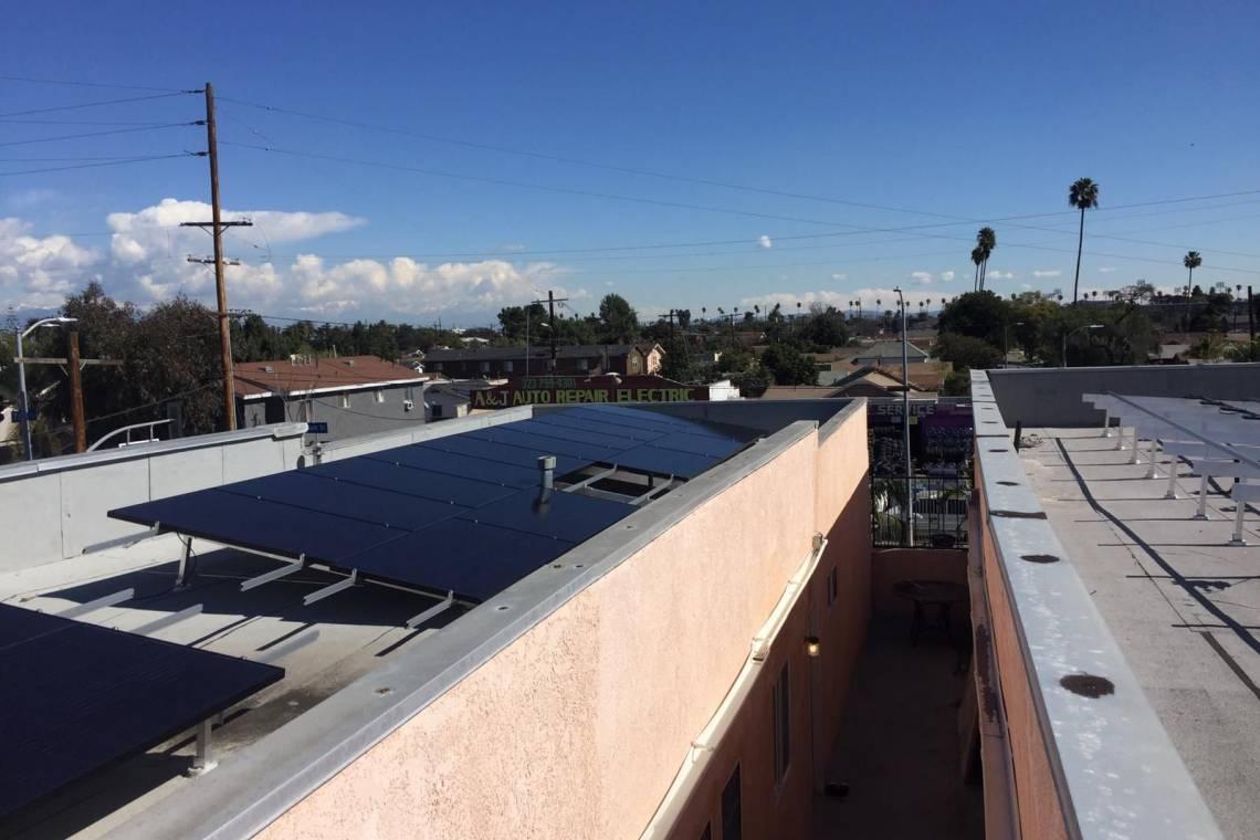 Los Angeles Solar install - 1